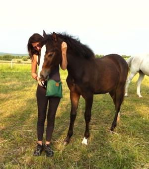 Aranka Kruse mit Pferd